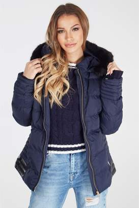 Next Womens Blue Vanilla Hooded Padded Coat