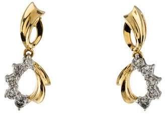 14K Diamond Drop Earrings
