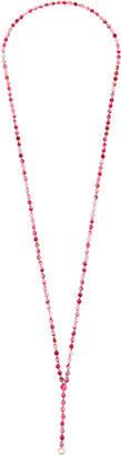Diane Kordas Dyed Pink Agate 48cm Chain
