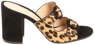 Gianvito Rossi Leopard Print Sandals