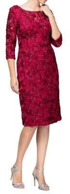 Alex Evenings Rose Shift Dress