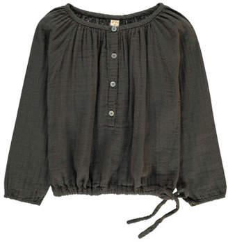 Numero 74 Naia Long Sleeve Blouse Charcoal grey