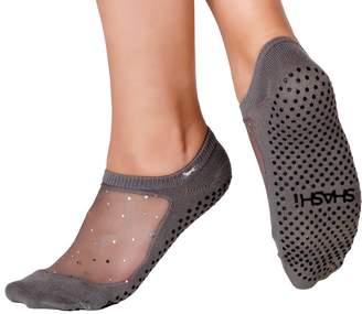 Shashi Glitter Mesh Non Slip Ergonomic Socks Pilates Barre Ballet Yoga Dance /10.5-12.5