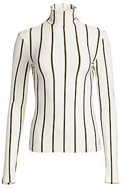 Calvin Klein Women's Stripe Turtleneck Knit Sweater