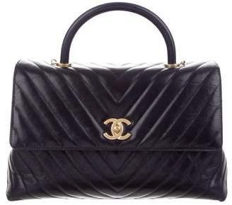Chanel 2017 Chevron Medium Coco Handle Bag