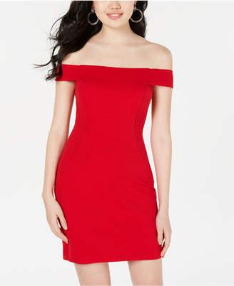 ac491fdbd Teeze Me Juniors' Off-The-Shoulder Textured Bodycon Dress