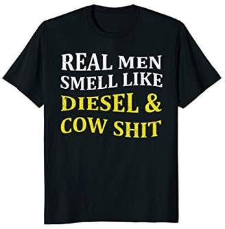 Diesel Funny Farmer Tee-Real Men Smell Like And Cow Shirt