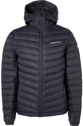 Peak Performance Frost Quilted Hooded Down Jacket - Navy