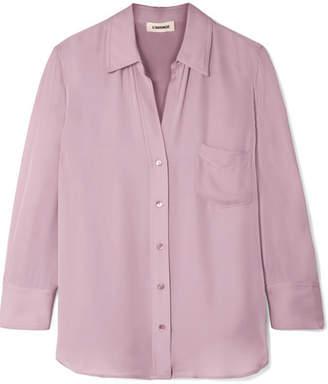 L'Agence Ryan Washed-silk Shirt - Lavender
