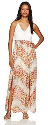 Trixxi Women's Hlter Fabric Mix DRS