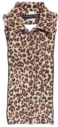 Veronica Beard Slate Leopard Print Dickey