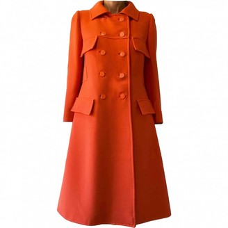 Courreges Orange Wool Coats