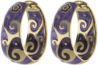 Ralph Lauren G. Adams G Adams Enamel Huggie Hoop Earrings withSwirl Design