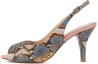 House of Fraser Chesca Yellow Blue Snake Print Shoes