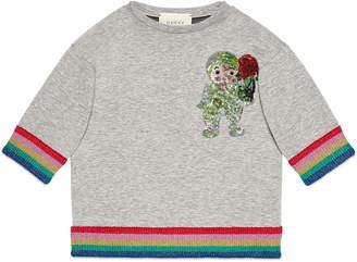 Gucci Children's sweatshirt with crystal appliqué