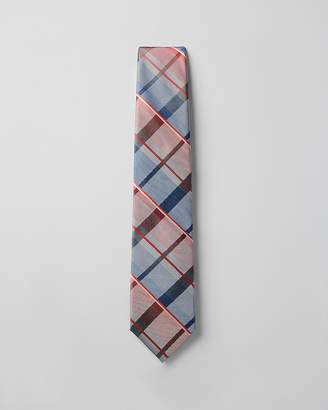 Express Plaid Narrow Silk Blend Tie