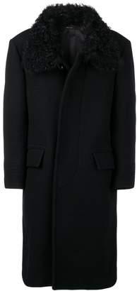 Tom Ford shearling collar long coat