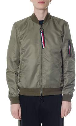 Tommy Hilfiger Green Reversible Bomber Jacket In Polyester
