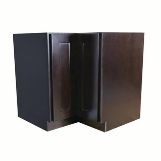 Lazy Susan Design House 620302 Brookings Fully Assembled Shaker Kitchen Cabinet 36x34.5x24, Espresso