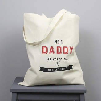 XOXO Personalised 'Number One Daddy' Tote Bag