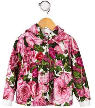 Dolce & Gabbana Infant Girls' Floral Print Hoodie Jacket
