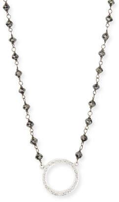 Rina Limor Fine Jewelry Twilight Open-Circle Diamond Pendant Necklace