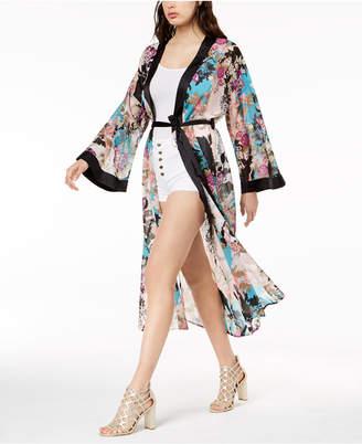 GUESS Maribel Cotton Printed Kimono