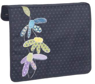 Lassig Changeable Frontcover with Velcro and zipper for Messenger Baby/Changing Bag, Flower Patch Navy