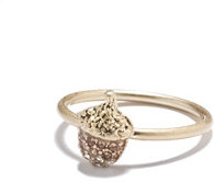 Pave acorn ring