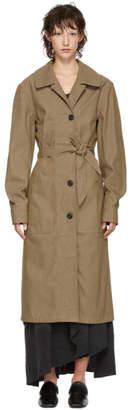 Lemaire Brown Denim Coat Dress