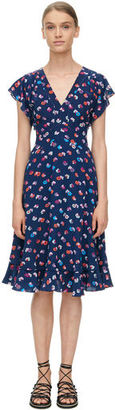 Sleeveless Sakura Floral V-Neck Dress $395 thestylecure.com