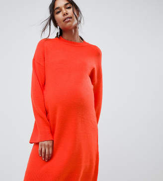 Asos (エイソス) - Asos Maternity ASOS DESIGN Maternity knitted mini dress in fluffy yarn