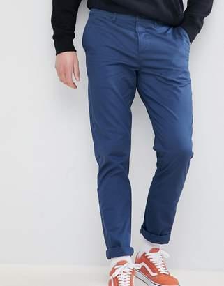 Asos Design DESIGN Slim Chinos In Midnight Blue