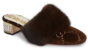 Gucci Candy Genuine Mink Fur Mule