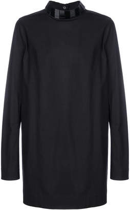 Rick Owens embroidered collar shirt