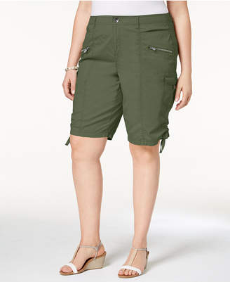 Style&Co. Style & Co Plus Size Zippered Cargo Shorts, Created for Macy's