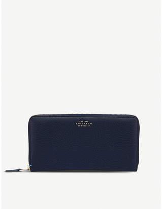 Smythson Burlington leather large zip purse