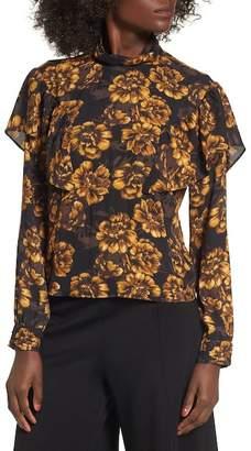 Leith Floral Ruffle Top
