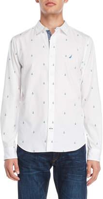 Nautica Anchor Print Sport Shirt