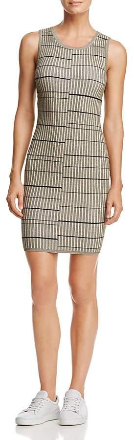 GUESS Wren Striped Rib-Knit Dress