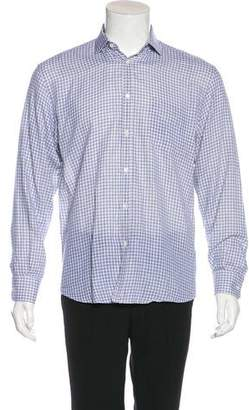 Billy Reid Checkered Woven Shirt