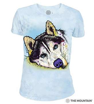 The Mountain Russo Siber Husky Adult Woman's T-Shirt