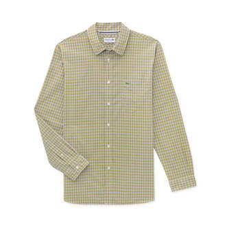 Lacoste (ラコステ) - チェック レギュラーフィットシャツ (長袖)