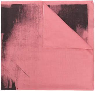Calvin Klein x Andy Warhol paint-like printed scarf