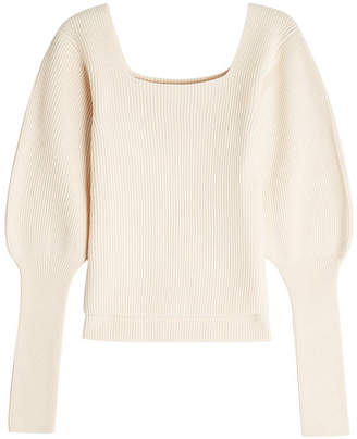 Khaite Lynette Pullover in Merino Wool with Cut-Out Detail