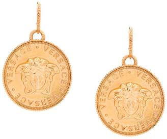 Versace Medusa coin earrings