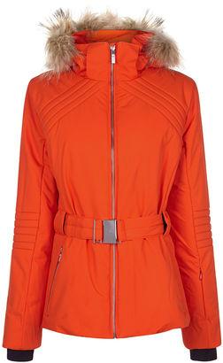 Fusalp Orange Hooded NajaFur Ski Jacket