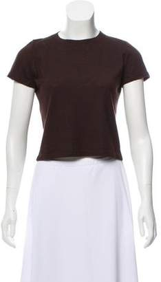 Brunello Cucinelli Silk-Cashmere Short Sleeve Sweater