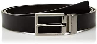 Calvin Klein Women's 30mm Rev Flat Strap Self Leath W/Logo