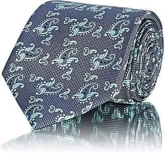Brioni Men's Paisley Silk Jacquard Necktie - Green